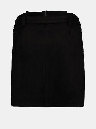 Černá sukně v semišové úpravě Hailys