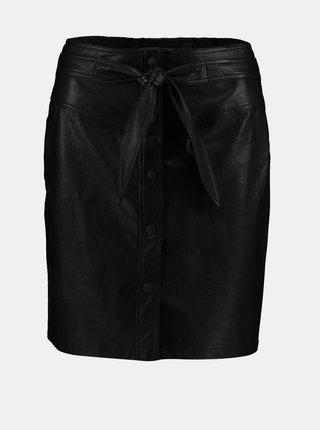 Černá koženková sukně Hailys