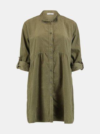 Kaki košeľové šaty Hailys