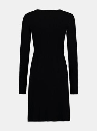 Čierne púzdrové svetrové šaty Hailys