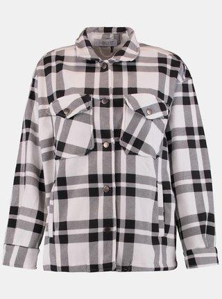 Čierno-krémová kockovaná košeľa Hailys