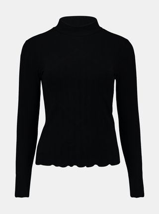 Černé tričko se stojáčkem Hailys