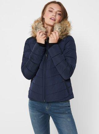 Modrá zimná prešívaná bunda ONLY Newellan