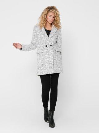 Šedý vlnený kabát ONLY New