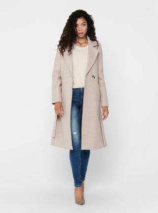 Béžový vlněný kabát ONLY Gina