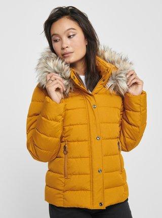 Horčicová zimná prešívaná bunda ONLY Luna