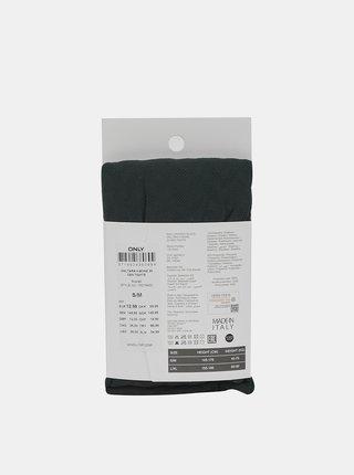 Tmavozelené vzorované pančuchové nohavice 20 DEN ONLY