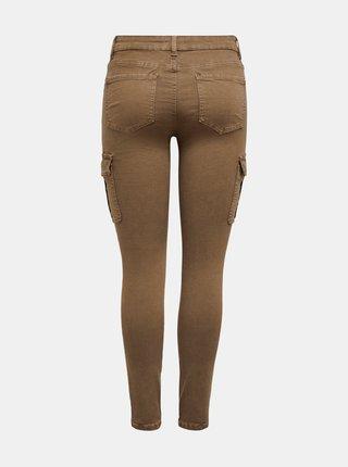 Hnědé kalhoty ONLY Marya