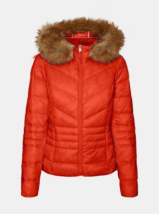 Červená zimná prešívaná bunda VERO MODA