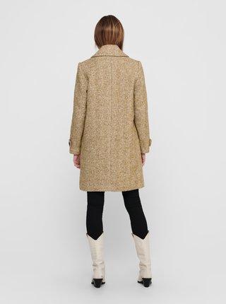Béžový vlněný kabát ONLY Penny