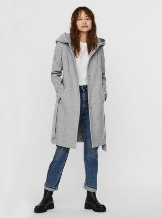 Svetlošedý kabát s kapucou VERO MODA