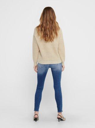 Béžový basic svetr ONLY Fiola