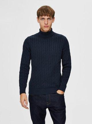 Tmavomodrý sveter s rolákom Selected Homme Ryan