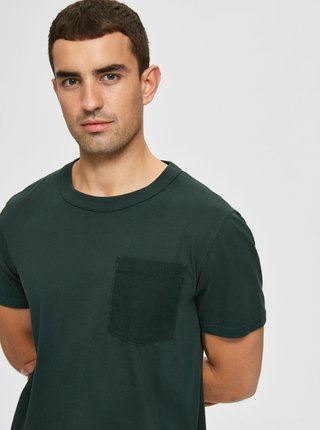 Zelené basic tričko Selected Homme