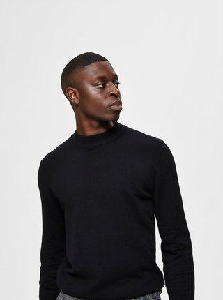 Čierny sveter s prímesou kašmíru Selected Homme