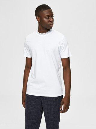 Bílé basic tričko Selected Homme