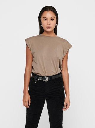 Béžové tričko ONLY Pernille