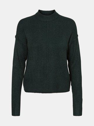 Tmavozelený sveter so stojáčikom VERO MODA
