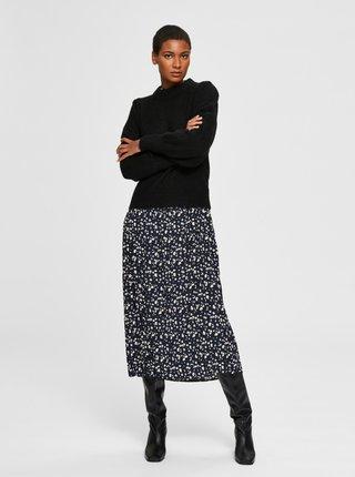 Čierny sveter s prímesou vlny z alpaky Selected Femme