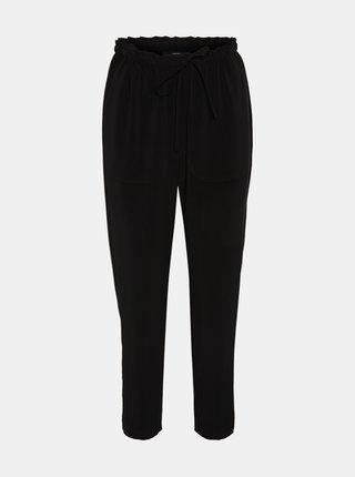 Černé zkrácené kalhoty VERO MODA