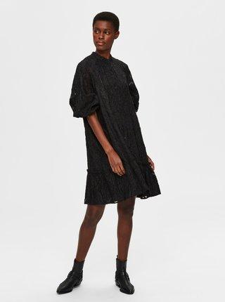 Černé krajkové šaty Selected Femme