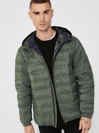 Khaki zimní prošívaná bunda ONLY & SONS