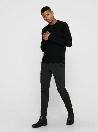 Černý vlněný svetr ONLY & SONS Howard