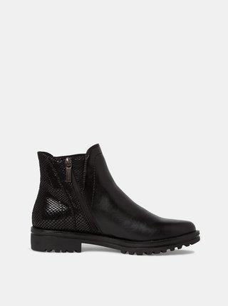 Čierne dámske chelsea topánky Tamaris