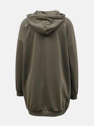 Khaki dámské mikinové šaty Noisy May