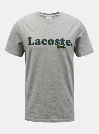 Šedé pánske tričko Lacoste