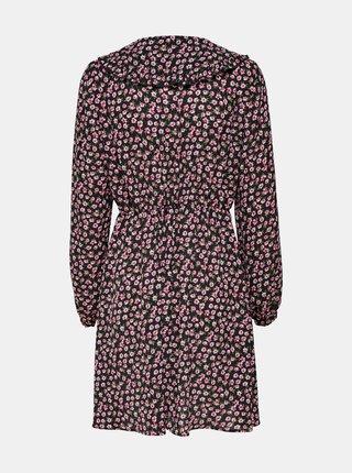 Černé květované šaty ONLY Rosa