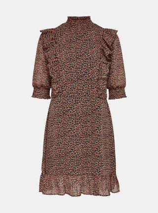 Starorůžové květované šaty ONLY Carrie