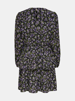 Černé květované šaty ONLY Tenna