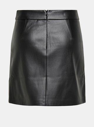 Čierna koženková sukňa ONLY Naya