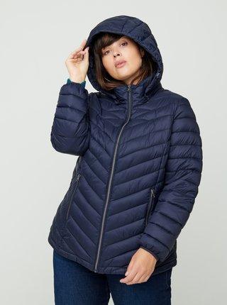 Tmavě modrá zimní bunda Zizzi