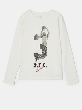 Biele chlapčenské tričko s potlačou name it