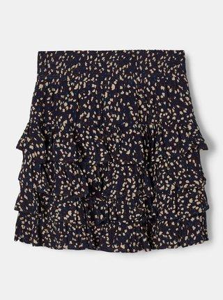 Tmavomodrá dievčenská kvetovaná sukňa name it