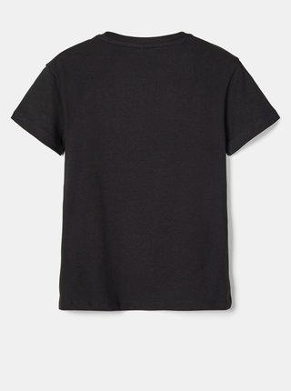 Černé klučičí tričko s potiskem name it