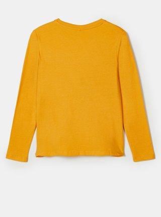 Žlté chlapčenské tričko s potlačou name it