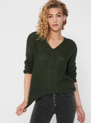 Tmavozelený sveter Jacqueline de Yong