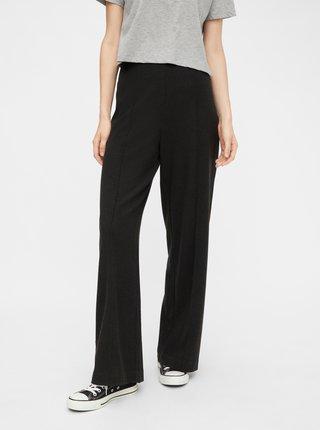 Tmavě šedé široké kalhoty Pieces