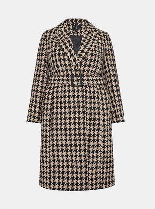 Béžový kostkovaný kabát Dorothy Perkins Curve