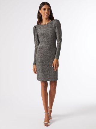 Trblietavé šaty v striebornej farbe Dorothy Perkins