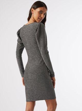 Třpytivé šaty ve stříbrné barvě Dorothy Perkins