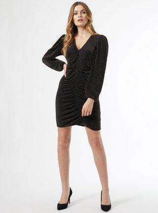 Čierne trblietavé šaty Dorothy Perkins
