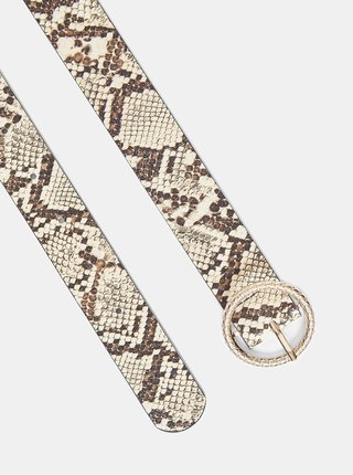 Krémový opasok s hadím vzorom Dorothy Perkins