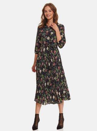 Tmavomodré kvetinové šaty TOP SECRET