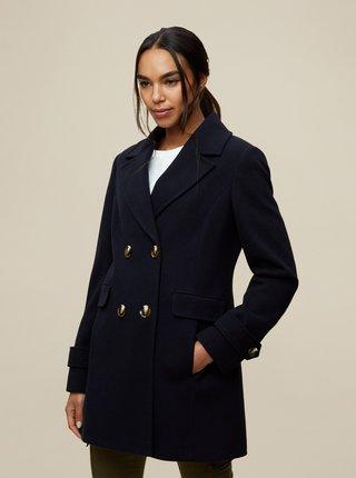 Tmavě modrý zimní kabát Dorothy Perkins