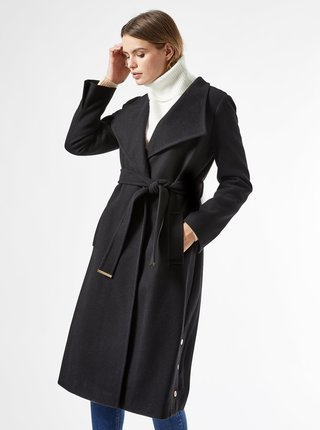 Černý zimní kabát Dorothy Perkins