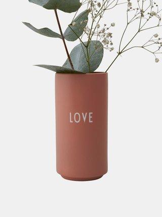 Starorůžová váza Design Letters Love